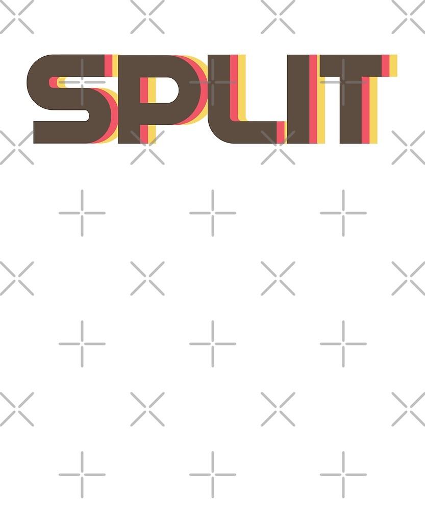 Retro Split T-Shirt by designkitsch