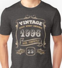 23rd Birthday Gift Gold Vintage 1996 Aged Perfectly Unisex T-Shirt