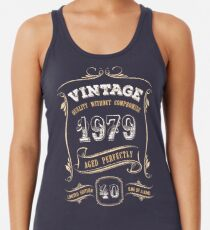 40th Birthday Gift Gold Vintage 1979 Aged Perfectly Women's Tank Top