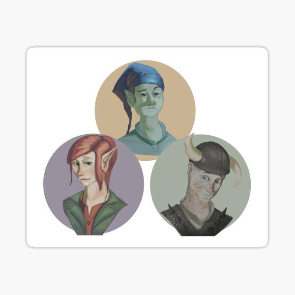 Apple Squadeth Portraits Sticker