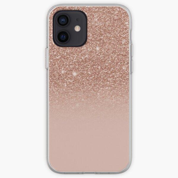Rose Gold Glitter Effect Ombre iPhone Soft Case