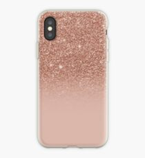 Rose Gold Glitter Effect Ombre iPhone Case