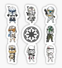 mini captains and commanders Sticker