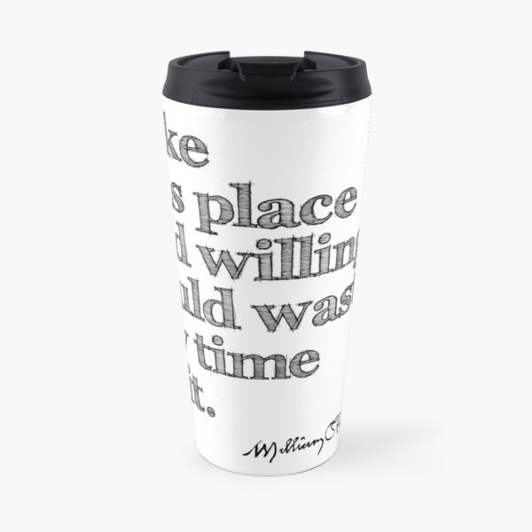 Shakespeare As You Like It Grunge Sketch Quote Travel Mug