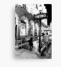 Pariser Metro Leinwanddruck