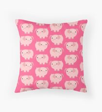 Cute Cartoon Pigs Accessories by Cheerful Madness!! Throw Pillow