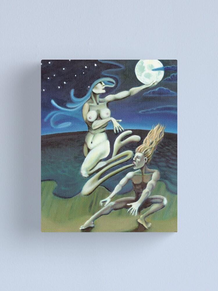Alternate view of Moon Priestess Canvas Print