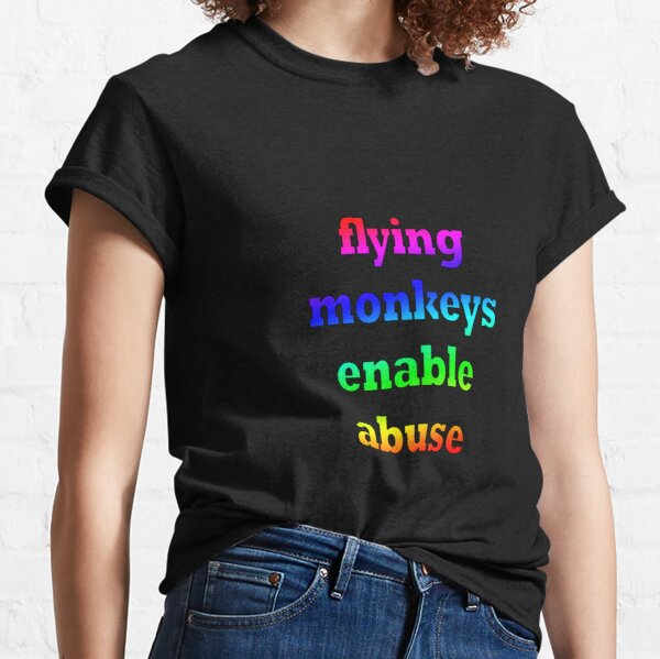 Flying monkeys enable abuse - multi color Classic T-Shirt