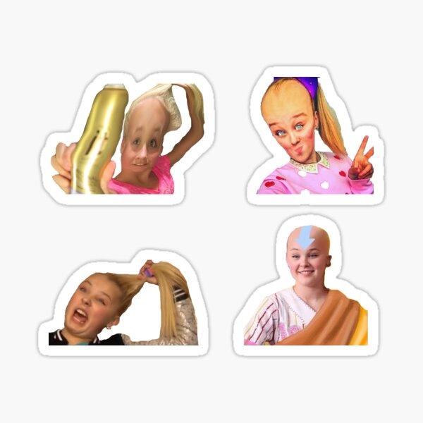 jojo siwa balding Sticker