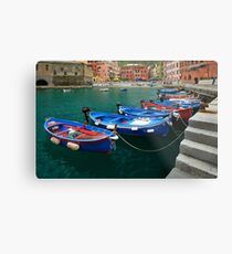 Vernazza Boats Metal Print