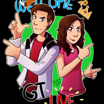 Welcome to GT Live MatPat and Steph Cartoon - Nerds Gift Idea by GameTheoryShop