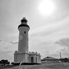Nobby's head lighthouse, NSW, Australia by Andrew Croucher