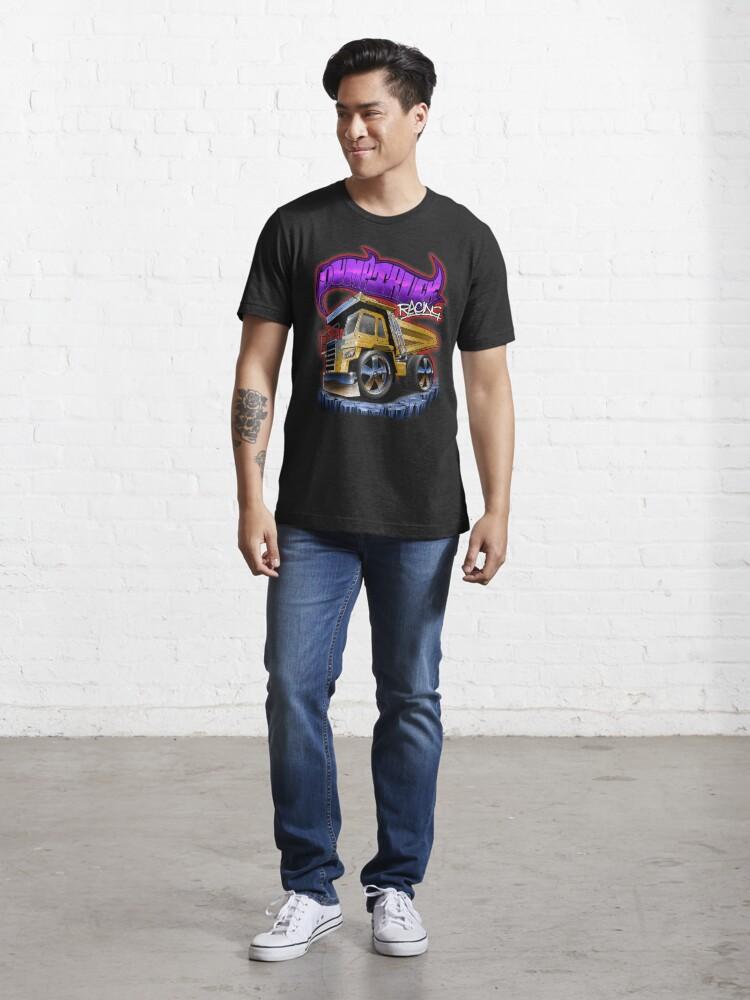 Alternate view of Dump Truck Racing Digger Dumper Toy Essential T-Shirt