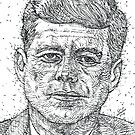 JOHN F. KENNEDY - ink portrait by lautir