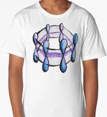 Benzene Molecule Pattern Organic Chemistry Long T-Shirt