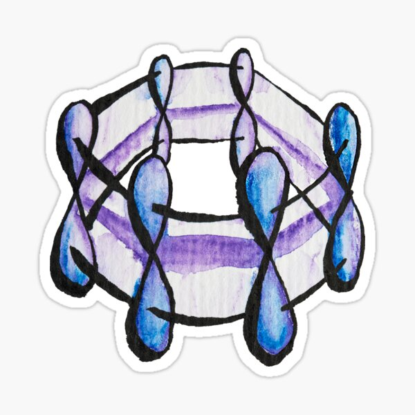 Benzene Molecule Pattern Organic Chemistry Sticker