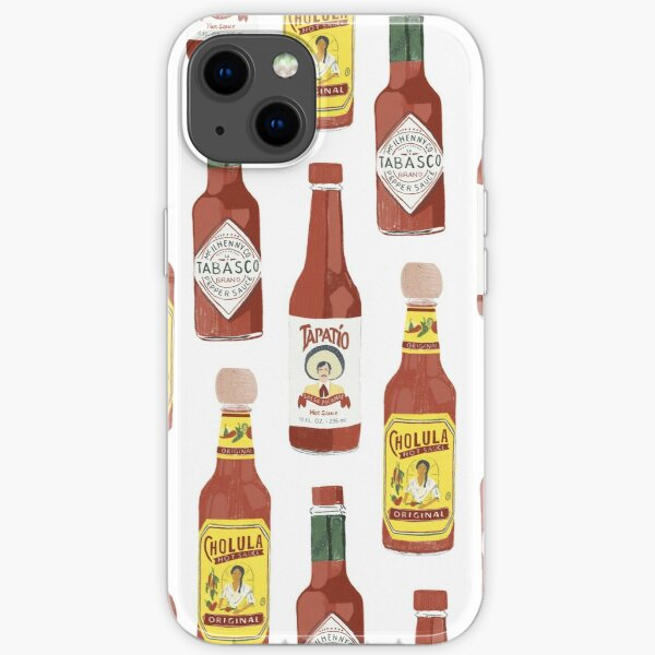 Spicy hot sauce pattern vertical large iPhone Soft Case
