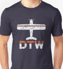 Fly Detroit DTW Airport Slim Fit T-Shirt