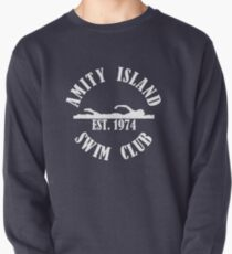 Amity Island Swim Club White Pullover