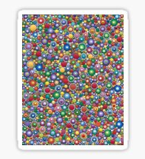 Dotted colorful by Mandalaole Sticker