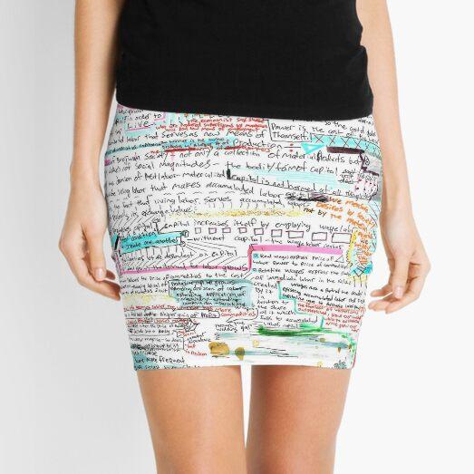Wage Labor and Capital (Vapor Notes) Mini Skirt