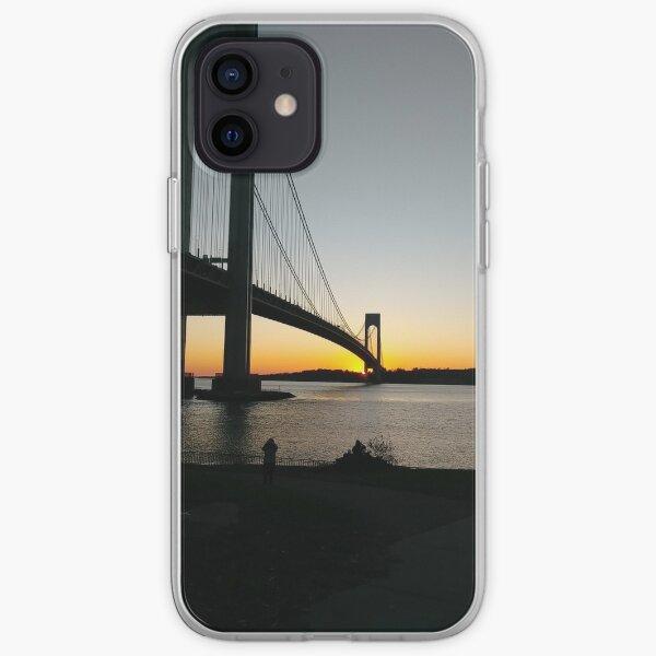 #BayRidge #famousplace #internationallandmark #VerrazanoNarrowsBridge #BathBeach #NewYorkCity #USA #americanculture #water #suspensionbridge #architecture #travel #sunset #sky #river #reflection iPhone Soft Case