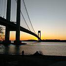#BayRidge #famousplace #internationallandmark #VerrazanoNarrowsBridge #BathBeach #NewYorkCity #USA #americanculture #water #suspensionbridge #architecture #travel #sunset #sky #river #reflection by znamenski