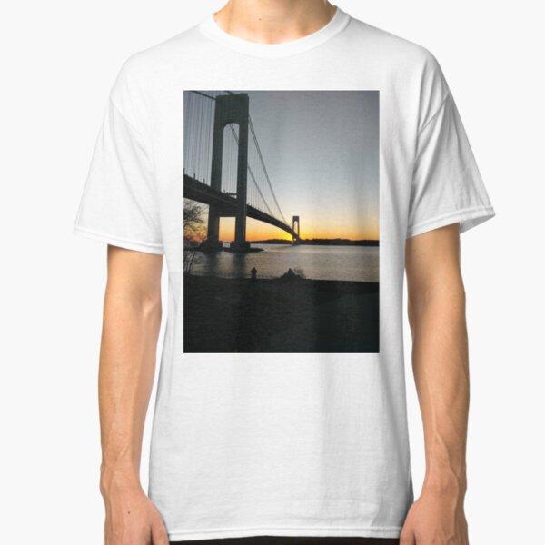 #BayRidge #famousplace #internationallandmark #VerrazanoNarrowsBridge #BathBeach #NewYorkCity #USA #americanculture #water #suspensionbridge #architecture #travel #sunset #sky #river #reflection Classic T-Shirt