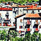 Buildings of Papasidero by Giuseppe Cocco