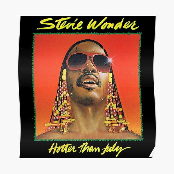 Stevie Wonder American Music Singer Poster Soul Pop Star Photo Black White Print