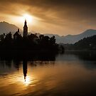 Sunrise at Lake Bled by Ian Middleton