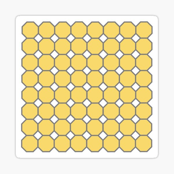 Yellow snowball octagon Sticker