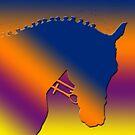 Vibrant rainbow horse head with plaited mane by Epic Splash Creations