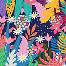 Colorful tropical fores pattern by artonwear