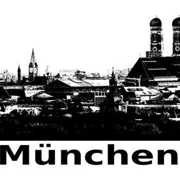 Munich Bavaria skyline by RetroFuchs