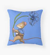 Cornflower Blue Throw Pillow