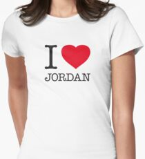 I ♥ JORDAN Womens Fitted T-Shirt