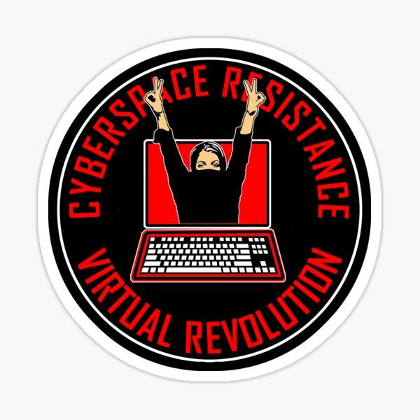 CYBERSPACE RESISTANCE - VIRTUAL REVOLUTION Sticker