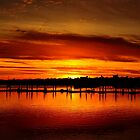 Winter Sunset at empty Marina...  by Poete100