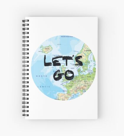 Let's Go! Rounded Europe Map Spiral Notebook