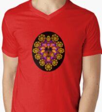 The Cowardly But Colorful Lion Mens V-Neck T-Shirt
