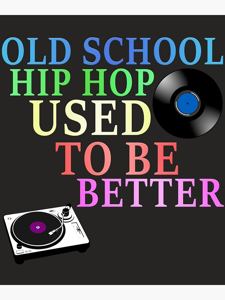 Old School Hip Hop 90s Rap Music Creative Colorful Design | Greeting Card