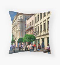 Only pedestrians Throw Pillow