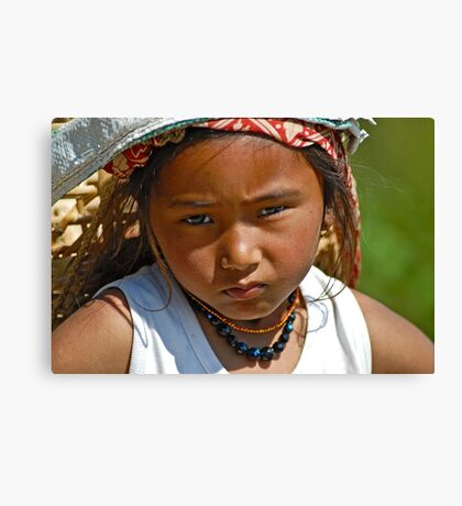 Nepali girl (III) Canvas Print
