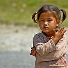 Nepali little girl by Konstantinos Arvanitopoulos