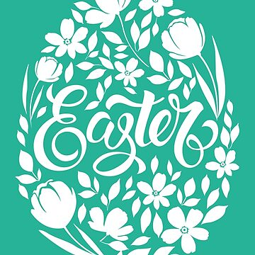 Easter Text Art Egg Shaped by CafePretzel