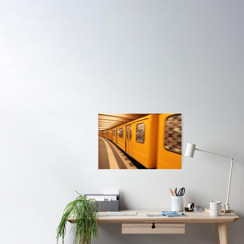 Gelb Bahn Poster