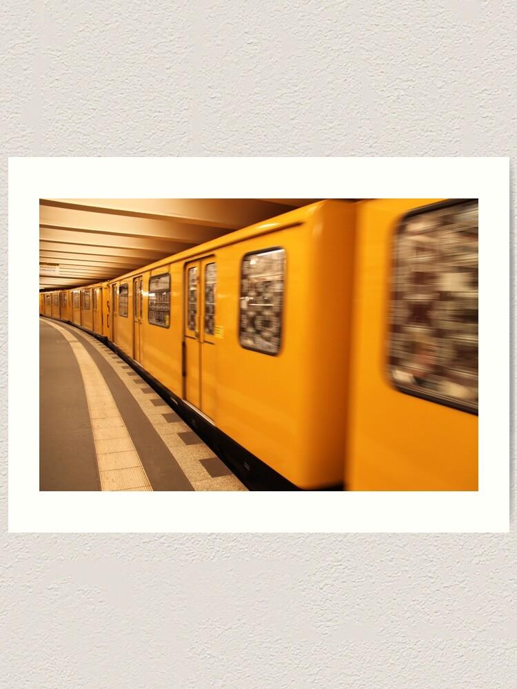 Alternate view of Gelb Bahn Art Print