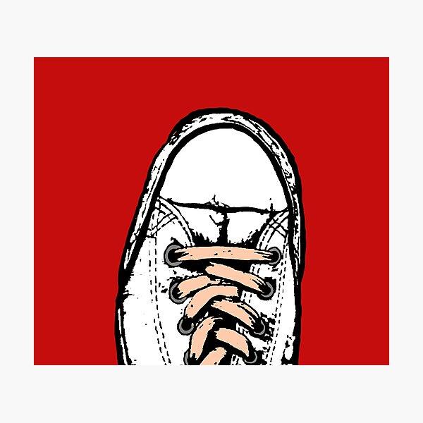 Red/Orange Shoe - all star Photographic Print