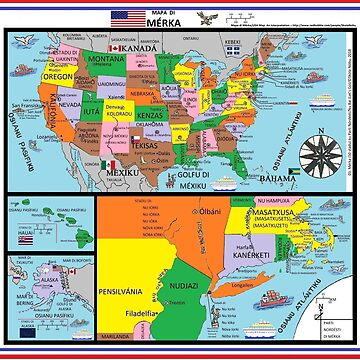 Mapa di Mérka/USA Map: An Interpretation  by SkolaNobu